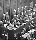 Los jerarcas nazis durante el juicio de Nuremberg